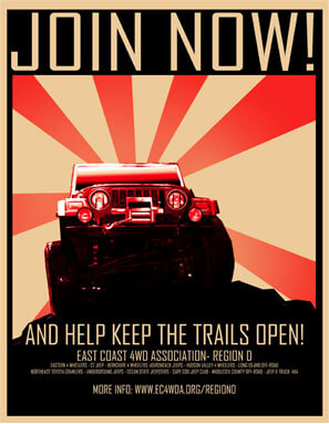 Red Jeep Poster